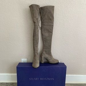 Stuart Weitzman Hiline Praline Over the knee boot